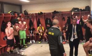 """ΑΕΚ: """"Γλέντι"""" στα αποδυτήρια με τον ύμνο του Champions League! video"""