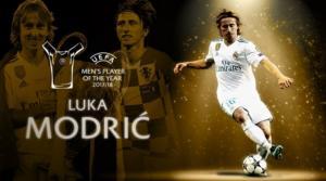 Champions League: Παίκτης της χρονιάς ο Μόντριτς! Βραβεύθηκαν οι κορυφαίοι της σεζόν 2017-18 – videos