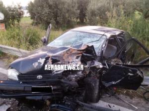 Αγρίνιο: Σφοδρή σύγκρουση οχημάτων στον δρόμο προς Αμφιλοχία – Νεκρός ο ένας οδηγός [pics]