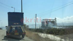 """""""Έπιασαν"""" τη φωτιά στο εργοστάσιο ανακύκλωσης στην Κρήτη – video"""