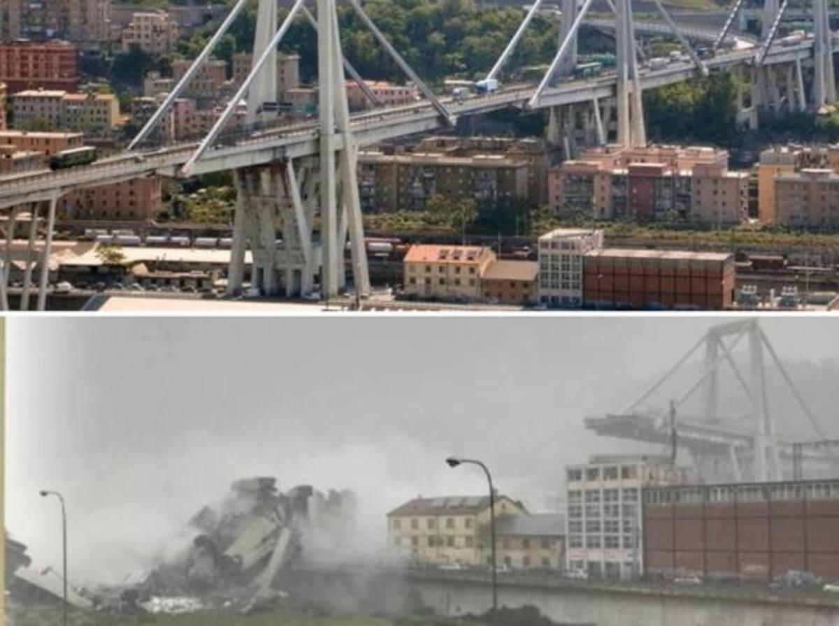 Γένοβα: Ετοιμόρροπη εδώ και καιρό η γέφυρα που πήρε μαζί της 39 ζωές – Φωτογραφίες ντοκουμέντα