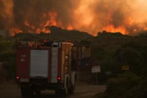 Σε ποιες περιοχές υπάρχει πολύ υψηλός κίνδυνος πυρκαγιάς τη Δευτέρα