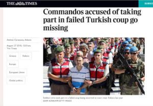 Times: Αγνοούνται δυο Τούρκοι αξιωματικοί που είχαν κάνει αίτηση ασύλου στην Ελλάδα