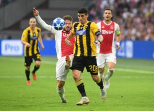 """Άγιαξ – ΑΕΚ: Πάλεψε στο Άμστερνταμ για ένα ημίχρονο… Άλλη κλάση ο """"Αίαντας"""" – Έσπασε το σερί, παρέμεινε η """"κατάρα"""""""
