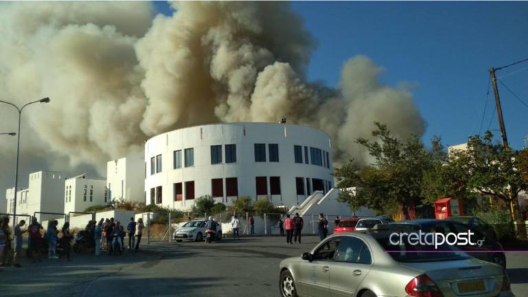 Συναγερμός στην Κρήτη! Μεγάλη φωτιά στο Πανεπιστήμιο – videos