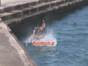 Κόρινθος: Έβλεπαν το αυτοκίνητο να πέφτει στη θάλασσα – Οι εικόνες από το σημείο – video