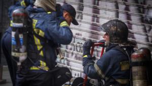 Φωτιά σε εργοστάσιο ανακύκλωσης στη Λάρισα