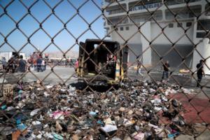 Ελευθέριος Βενιζέλος: Καραμπίνα και φυσίγγια σε φορτηγάκι των ΕΛΤΑ που κάηκε! [pics]