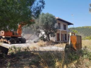 Κατεδαφίσεις αυθαιρέτων στην περιοχή Μαραθώνα – Διονύσου
