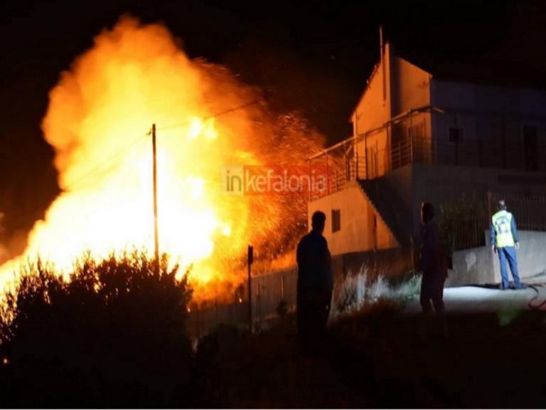 Φωτιά στην Κεφαλονιά: Νέα εστία και ολονύχτιο θρίλερ!