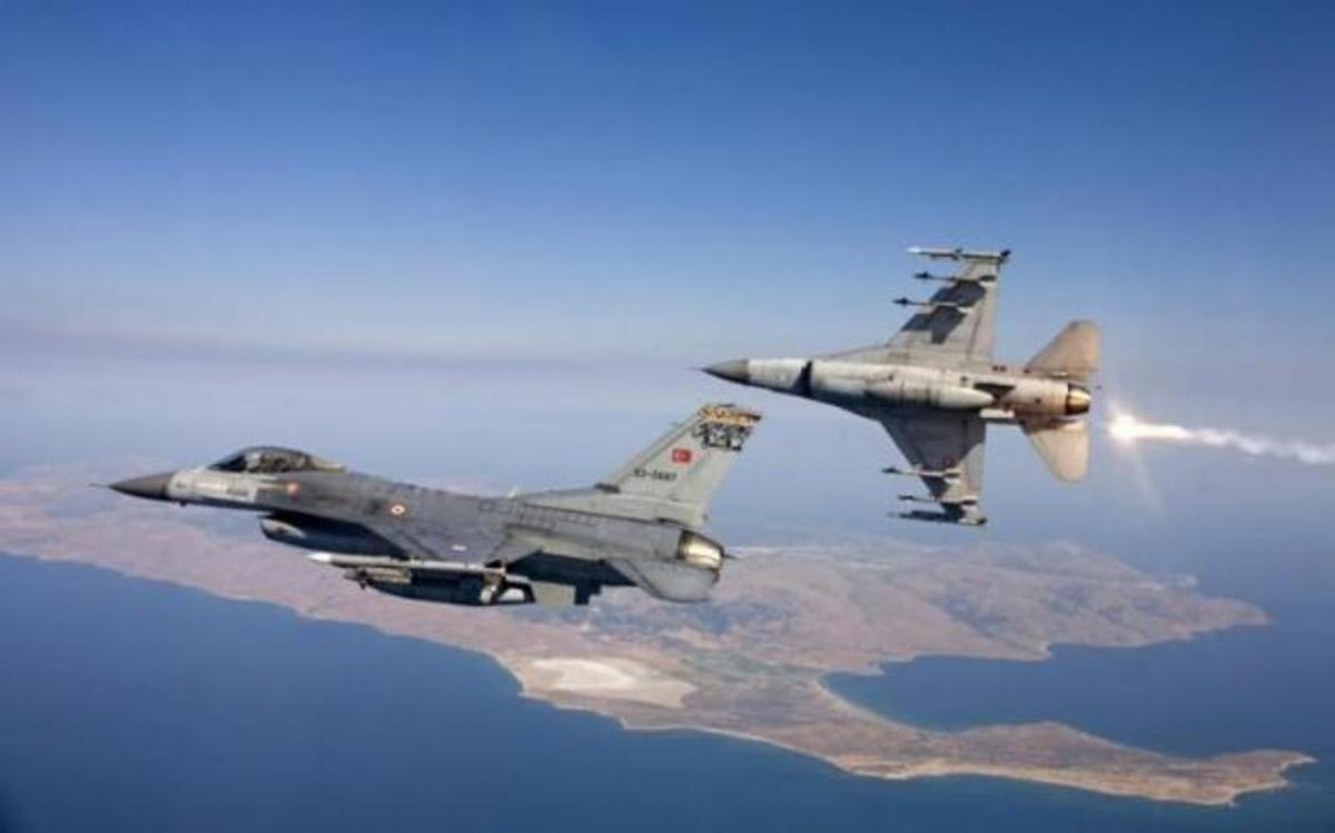 Υπέρπτηση τουρκικών F-16 πάνω από το Αγαθονήσι