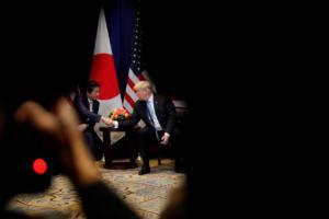 Ο Τραμπ ανακοινώνει την έναρξη των εμπορικών διαπραγματεύσεων με την Ιαπωνία
