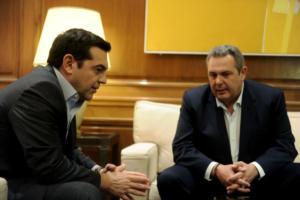 """Εκλογές τον Μάιο """"δείχνει"""" η χθεσινή συνάντηση Τσίπρα – Καμμένου! Τι του είπε ο Πρωθυπουργός"""