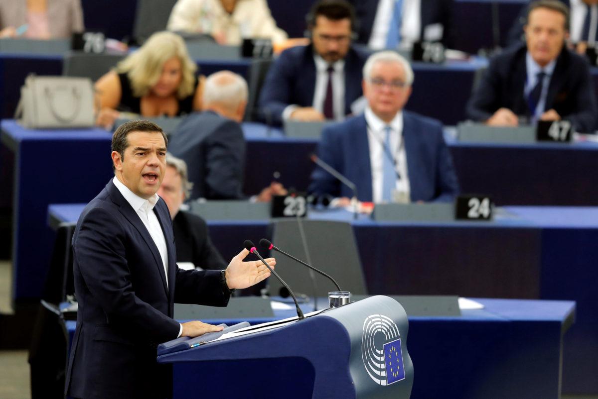 Ο Αλέξης Τσίπρας στο Ευρωκοινοβούλιο