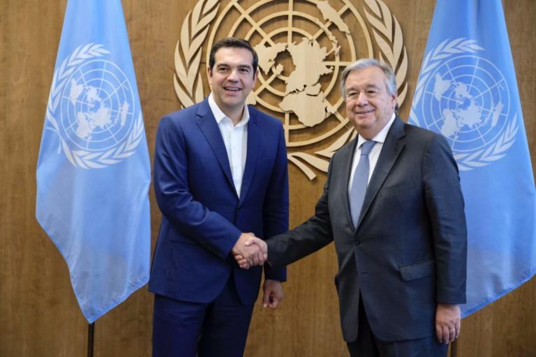 Σκοπιανό και Κυπριακό συζήτησαν Τσίπρας – Γκουτέρες – Εύσημα για τη Συμφωνία των Πρεσπών