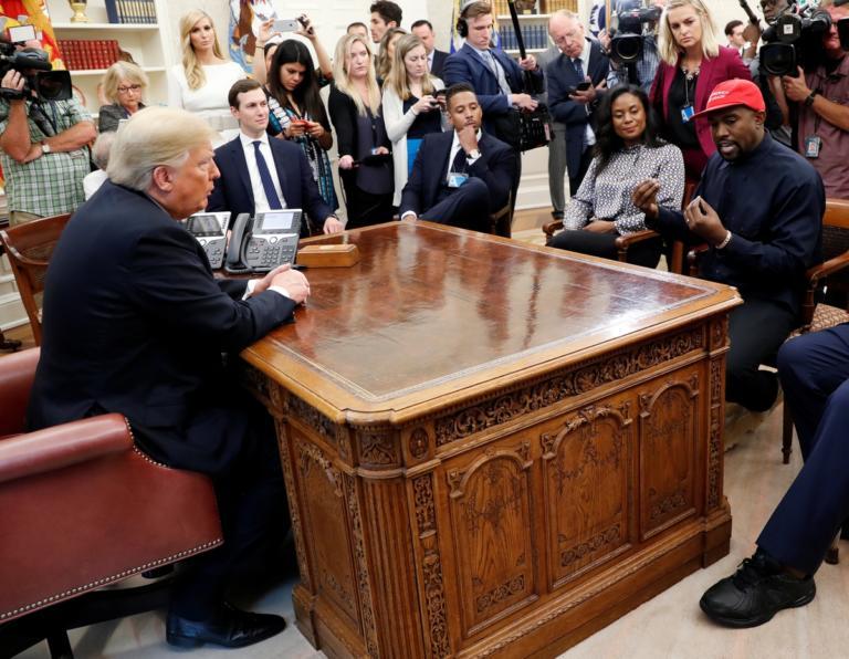 Τετ α τετ Ντόναλντ Τραμπ – Κάνιε Γουέστ! Του δίνει τη σκυτάλη για την προεδρία