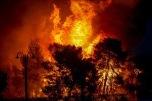 """Ηλεία: """"Διπλή"""" πυρκαγιά απειλή οικισμό! Μεγάλη κινητοποίηση της πυροσβεστικής"""
