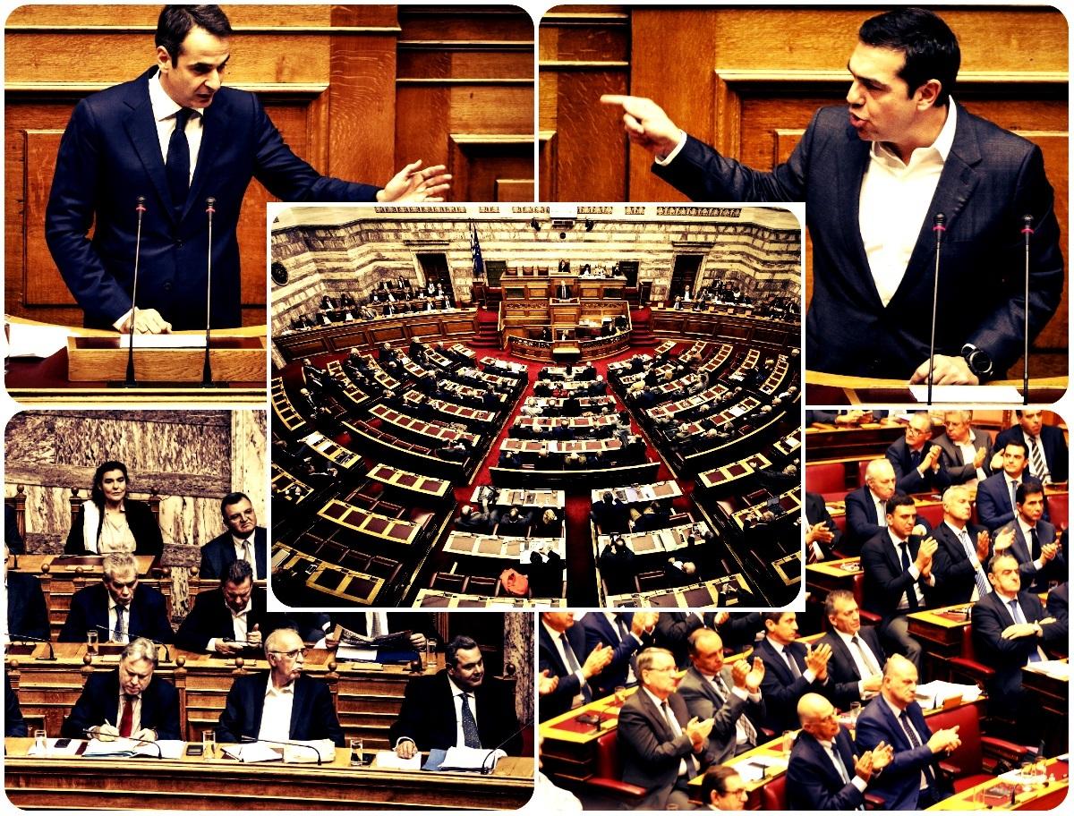 Σκληρή αντιπολίτευση… στης Βουλής τα έδρανα από τη ΝΔ