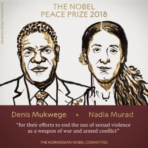 Νόμπελ Ειρήνης στον Denis Mukwege και τη Nadia Murad