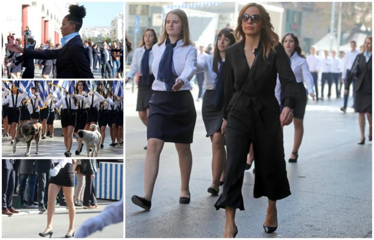 """Παρέλαση 28η Οκτωβρίου: Μαλλιά… Next Top Model, """"πατροπαράδοτα"""" μίνι, καθηγήτρια """"στην πένα""""! video, pics"""