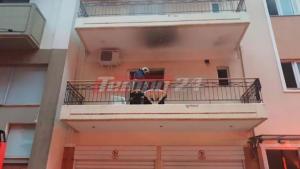 Φωτιά σε διαμέρισμα στην Πάτρα – Σώθηκε από θαύμα νεαρός