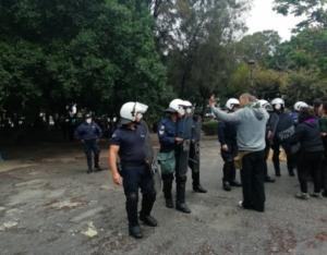 Ένταση στην Κρήτη για την ανάπλαση πάρκου – Πληροφορίες για τραυματισμό αστυνομικού
