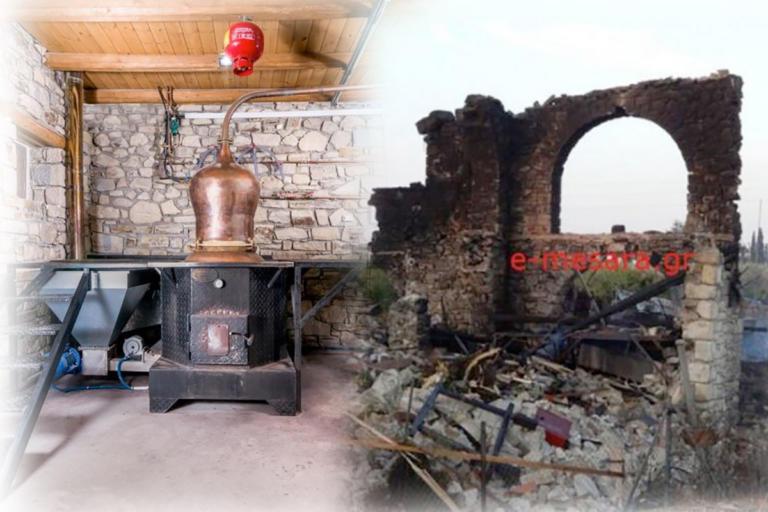 Ηράκλειο: Λύνεται το μυστήριο της έκρηξης σε ρακοκάζανο – Κάμερα ασφαλείας κατέγραψε την ισοπέδωση του οινοποιείου – video