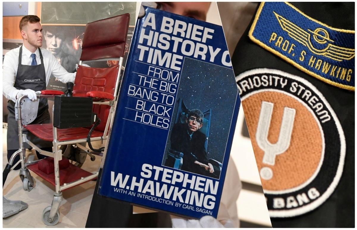 """Λίγη από την ιδιοφυία του Στίβεν Χόκινγκ! Ιστορική δημοπρασία με αντικείμενα του """"λαμπρότερου μυαλού"""" της εποχής μας! video, pics"""