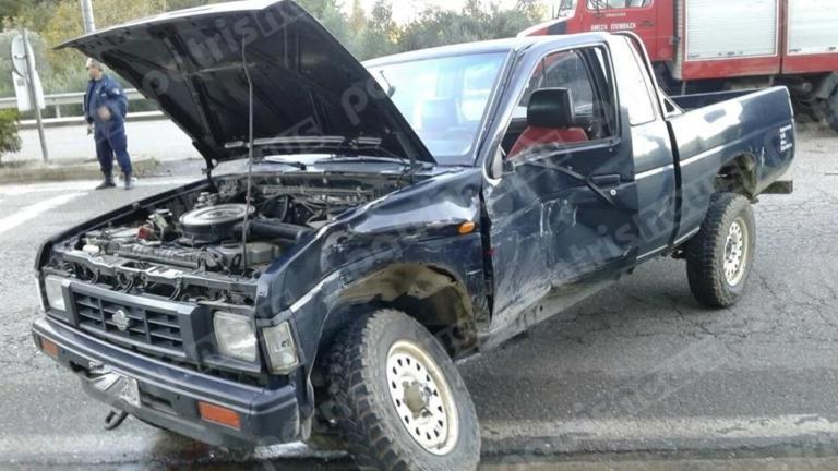 Ηλεία: Ένας τραυματίας σε σύγκρουση φορτηγού με αγροτικό στην Κρέστενα [pic]