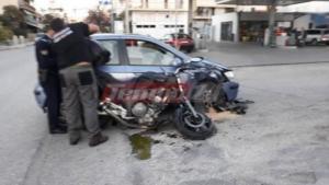 Σοβαρός τραυματισμός αστυνομικού σε τροχαίο στην Πάτρα
