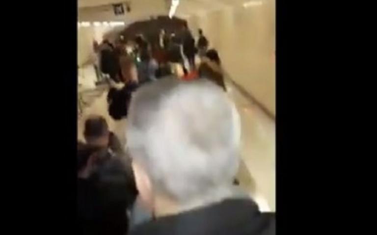 Οπαδοί της Χρυσής Αυγής στο σταθμό του μετρό στο Μοναστηράκι – Φώναζαν συνθήματα για τον Κατσίφα!
