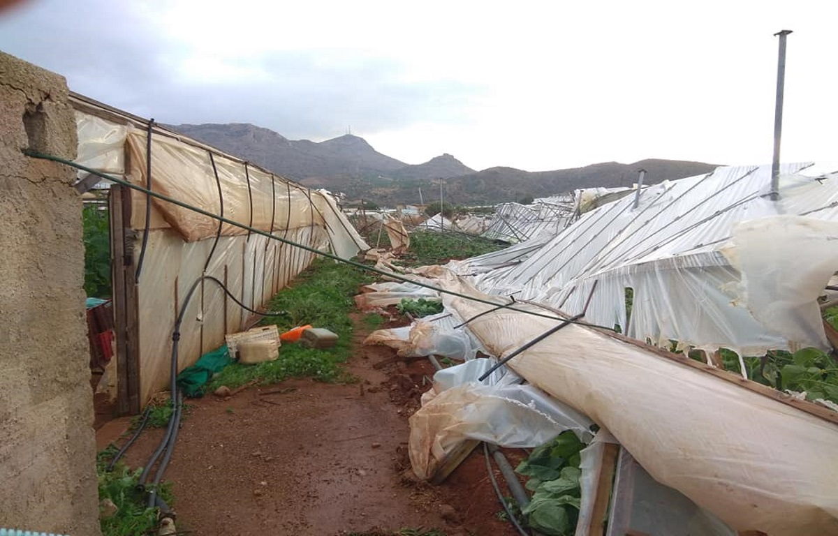 Κρήτη: Υδροστρόβιλος σάρωσε τη Σητεία! Τεράστιες καταστροφές [Pics – Video]