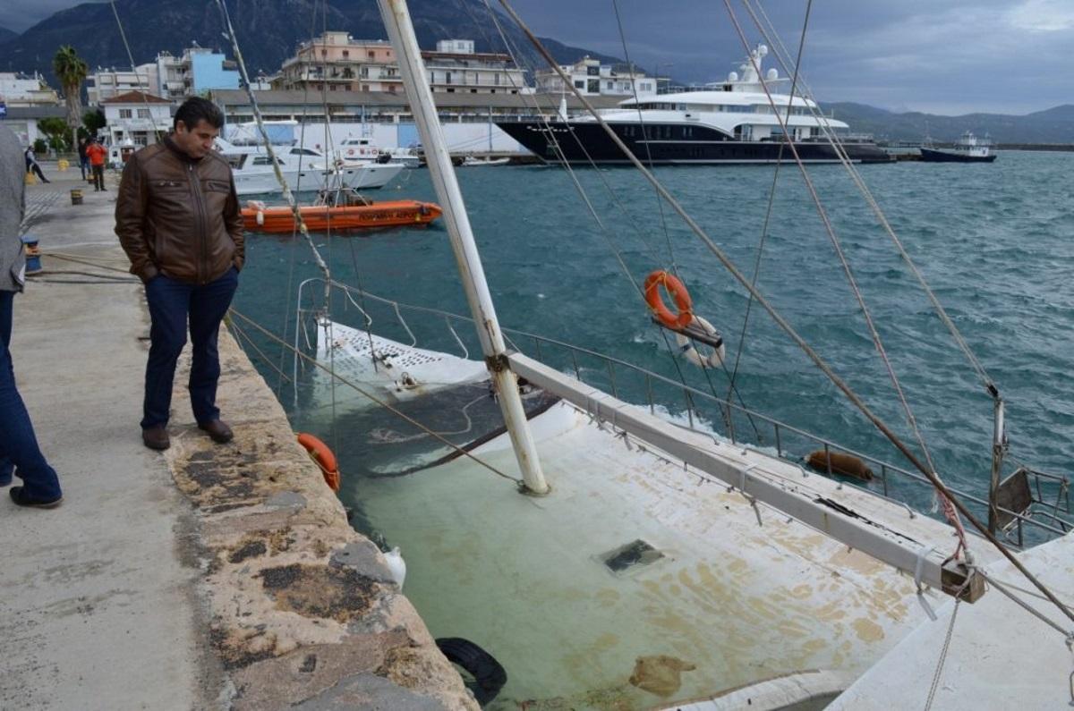 Κατασχεμένο ιστιοφόρο βούλιαξε στο λιμάνι της Καλαμάτας
