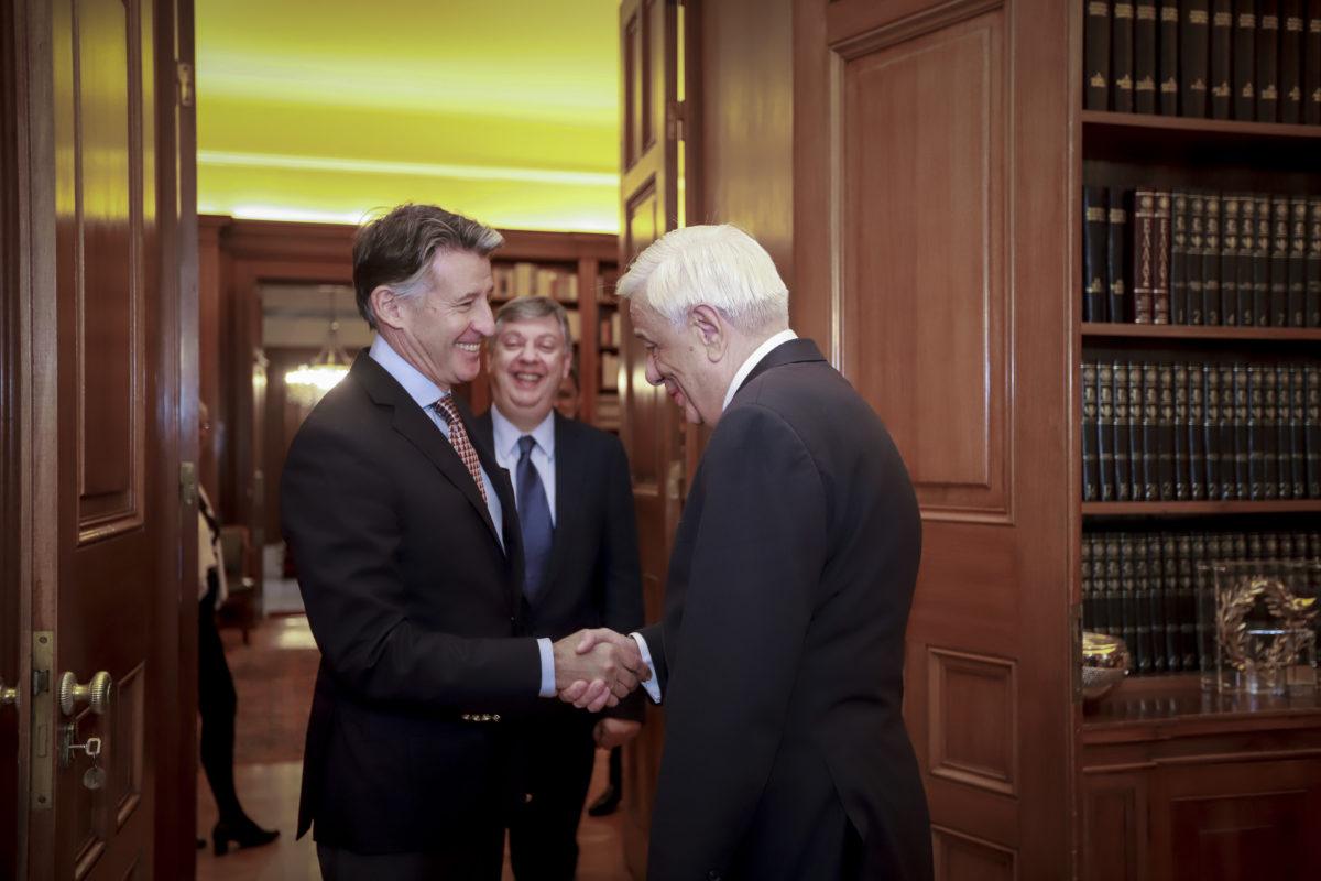 Συνάντηση του Προκόπη Παυλόπουλου με τον πρόεδρο της IAAF