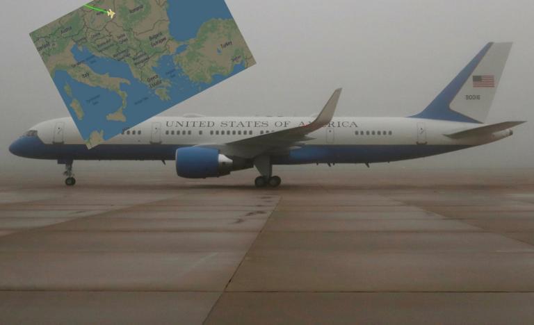 """Μυστήριο! Το Air Force One """"εθεάθη"""" να πετά πάνω από την Ευρώπη"""