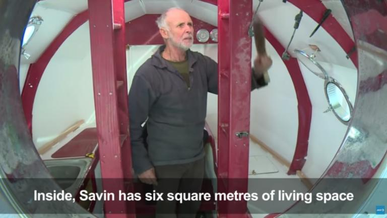 71χρονος θα διαπλεύσει τον Ατλαντικό μέσα σε κάψουλα! video, pics