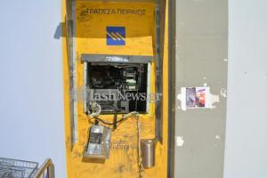 Ανατίναξαν ATM στα Χανιά – Εικόνες καταστροφής [pics]