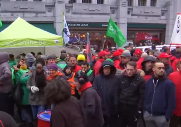Κίτρινα, κόκκινα και πράσινα γιλέκα διαδηλώνουν στο Βέλγιο! – video