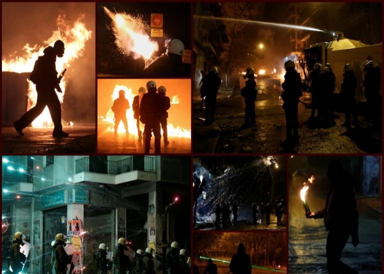 Επεισόδια στα Εξάρχεια: Φλόγες ξανά για την δολοφονία Γρηγορόπουλου