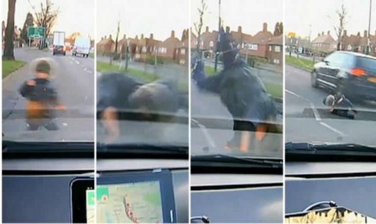Το παιδί… του Superman! Το χτύπησε μαθητευόμενος οδηγός και γλίτωσε από θαύμα! video