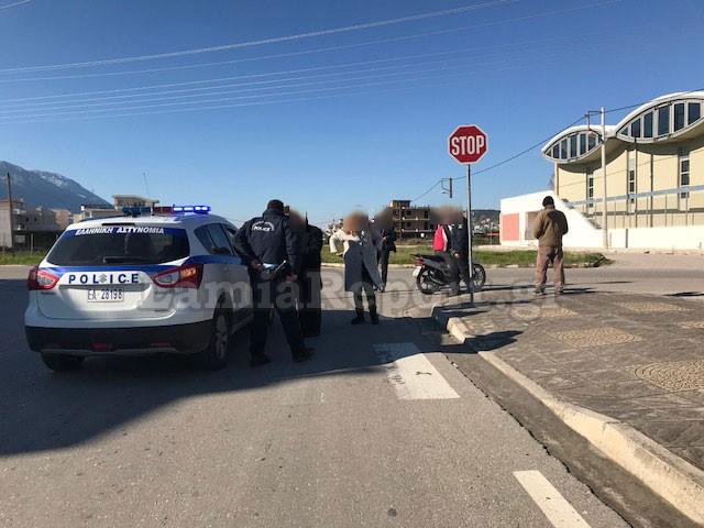 Λαμία: Παραβίασε το STOP και τον έστειλε στο νοσοκομείο