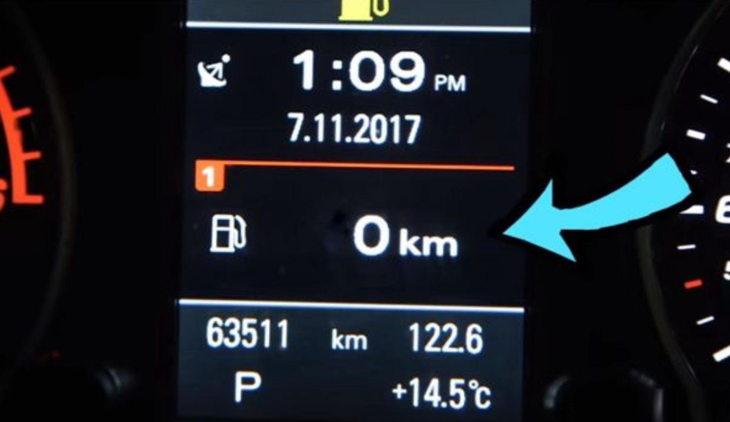 Πόσα χιλιόμετρα μπορείς να κάνεις με άδειο ρεζερβουάρ [vid]