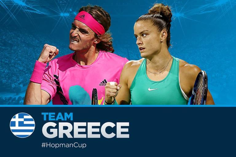 """Έλληνες """"πατριώτες"""" στην Αυστραλία! Η παρουσίαση Τσιτσιπά και Σάκκαρη στο Hopman Cup – video"""