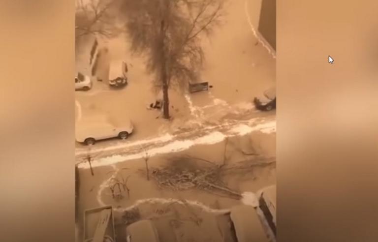 Απίστευτο φαινόμενο: Έστρωσε κίτρινο χιόνι στην Κίνα! Video