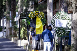 Παρούσα η ΑΕΚ στην κηδεία του άτυχου εργάτη της «Αγιά – Σοφιάς» – [pics]