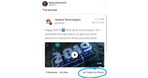 Η Huawei  έστειλε ευχές για την Πρωτοχρονιά μέσω iPhone!