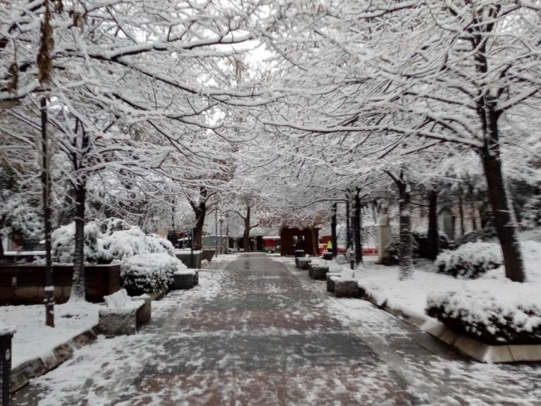 Καιρός – Λάρισα: Χιόνι και το θερμόμετρο στο -1C [pics]