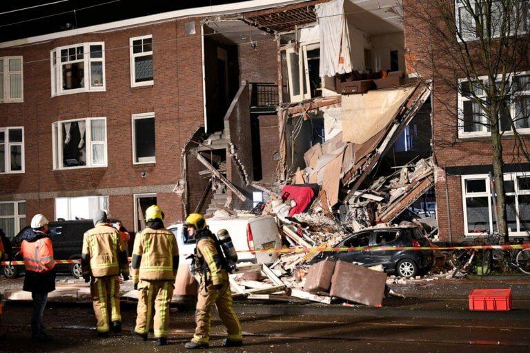 Έκρηξη στη Χάγη: Τραυματίστηκαν 9 άνθρωποι από την κατάρρευση τριώροφης πολυκατοικίας | Newsit.gr