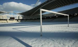 Χιονισμένο τοπίο! Το ΟΑΚΑ στα… λευκά – [pics]