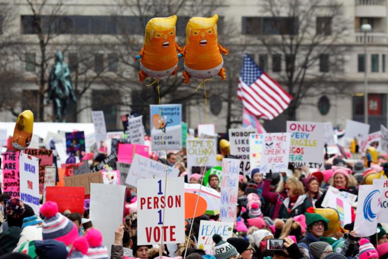 Γυναίκες εναντίον Τραμπ σε όλο τον κόσμο – Εκατοντάδες πορείες διαμαρτυρίας [pics]